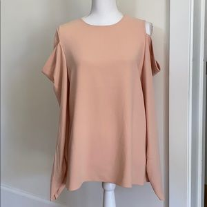 NWT Tibi Draped Cutout Crepe Top
